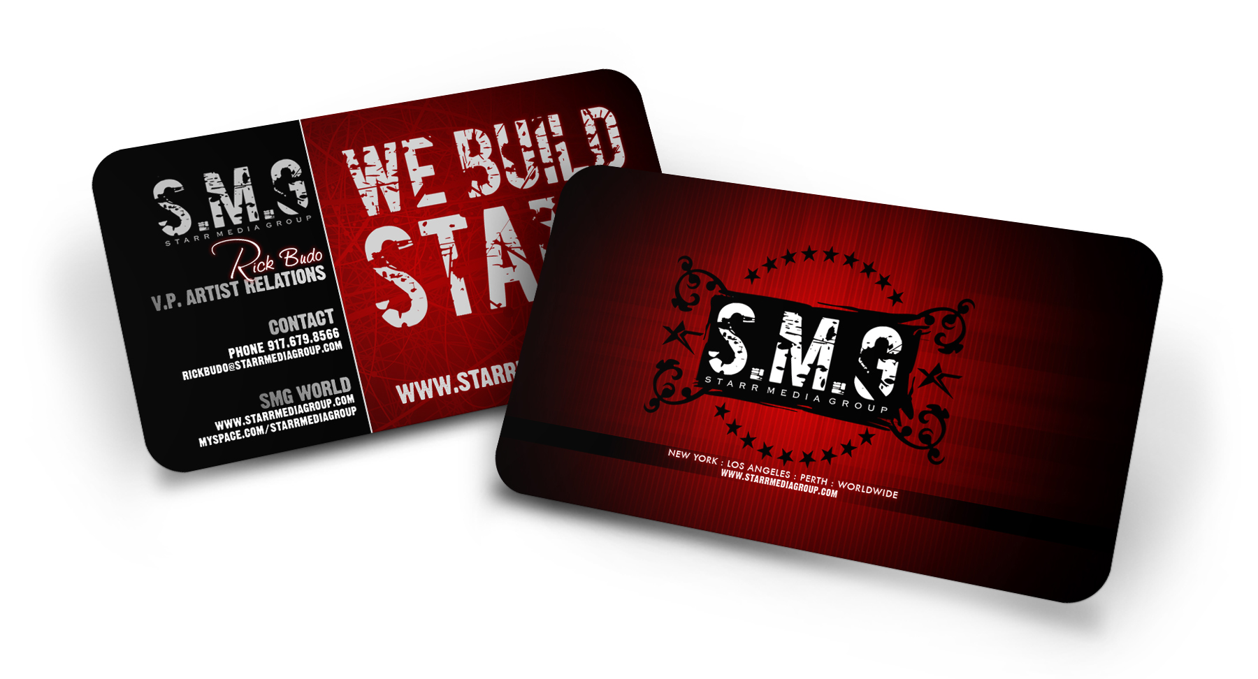Business card print design screaming lunatic design agency las reheart Choice Image