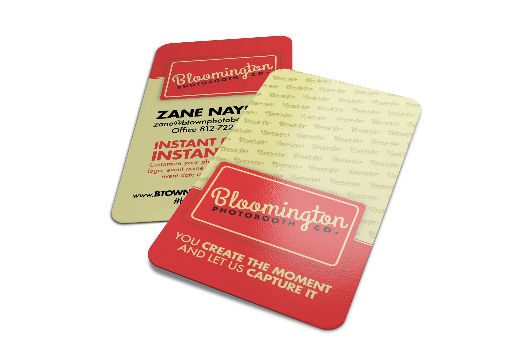 Business card print design screaming lunatic design agency california wedding dj reheart Image collections
